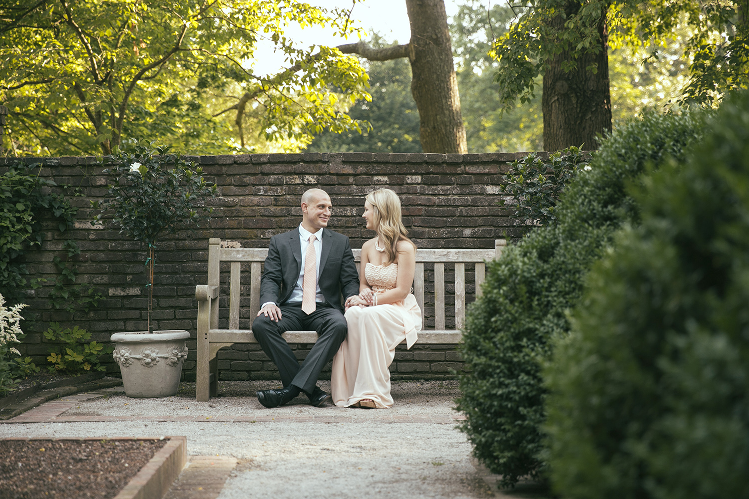 This Engagement session was done at the Henry Clay Estate near Chevy Chase in Lexington, Kentucky. The Pristine Gardens are perfect for a classic look.