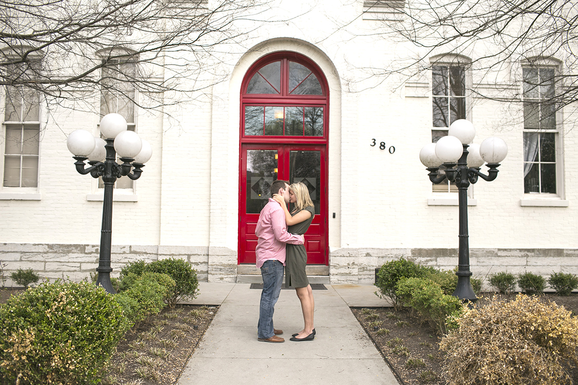 Engagement Session that was taken at Gratz Park in downtown Lexington, Kentucky. Spring was blooming which was the perfect time for some save the date photographs.