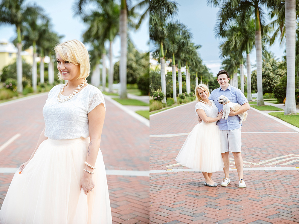 Engagement Session done in Naples Florida. I love doing destination weddings! This location felt alot like the roads through Beverly Hills California.