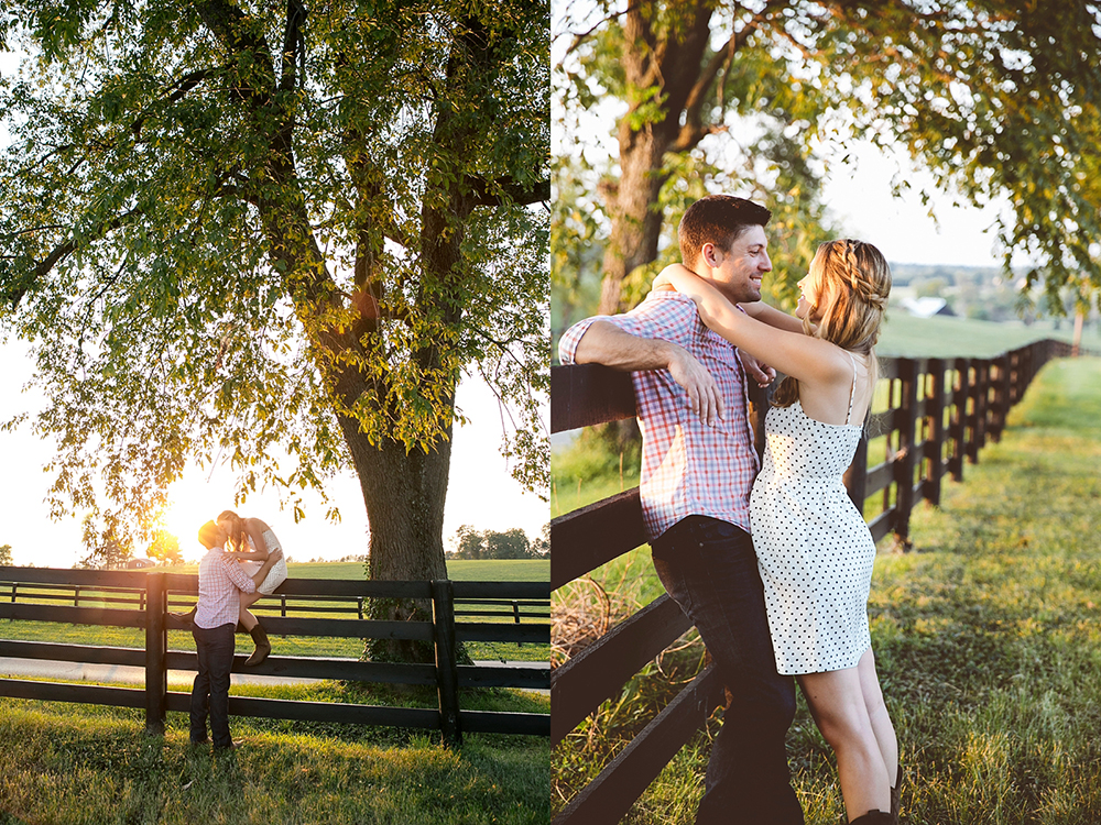 Kentucky Engagement Session at the Keeneland Horse Track, you cant beat the green grass of Lexington!