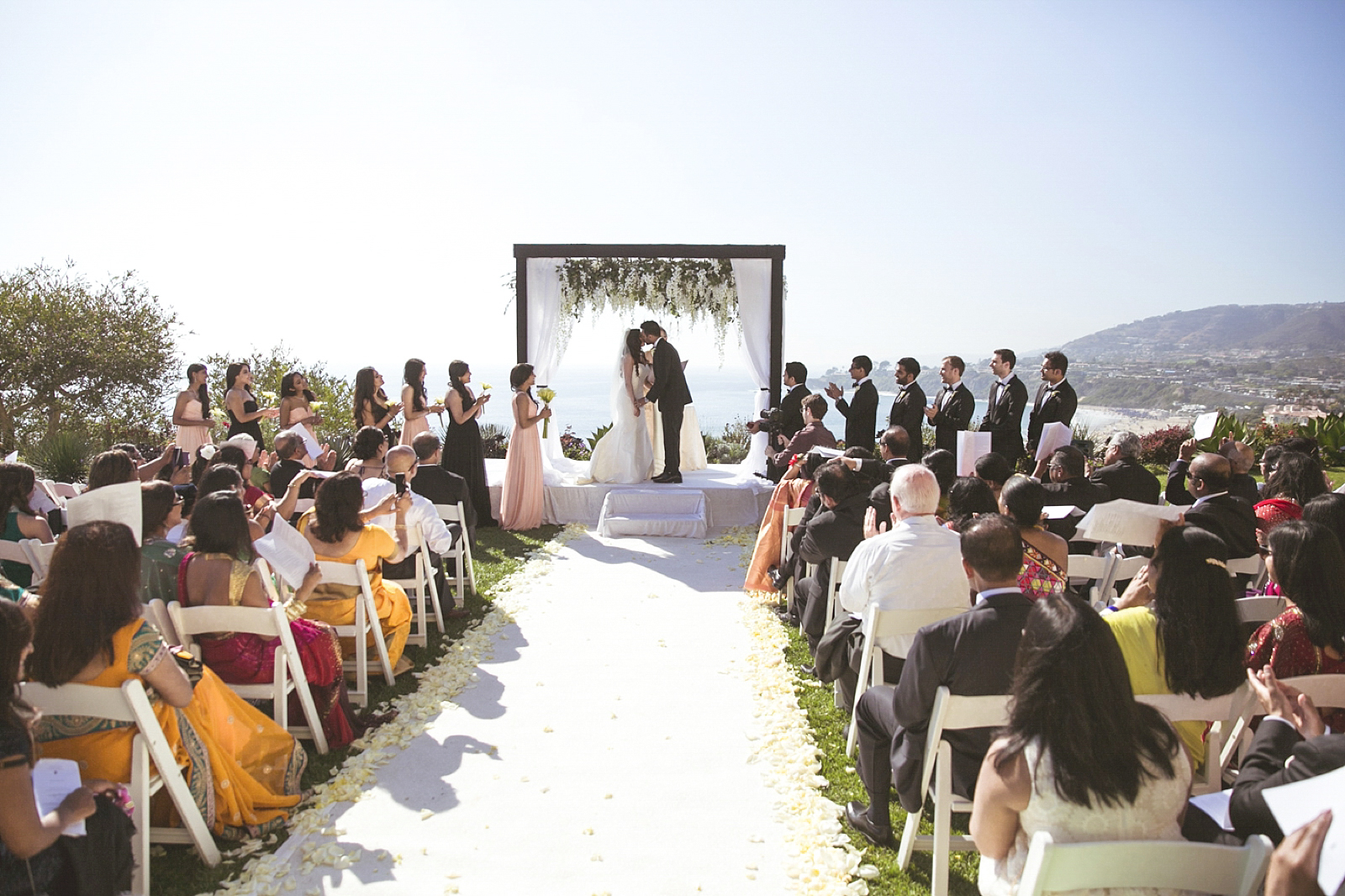 Luxury Wedding in Laguna Beach in Southern California. this was at the Montage Hotel, amazing view of the beach behind the ceremony location.