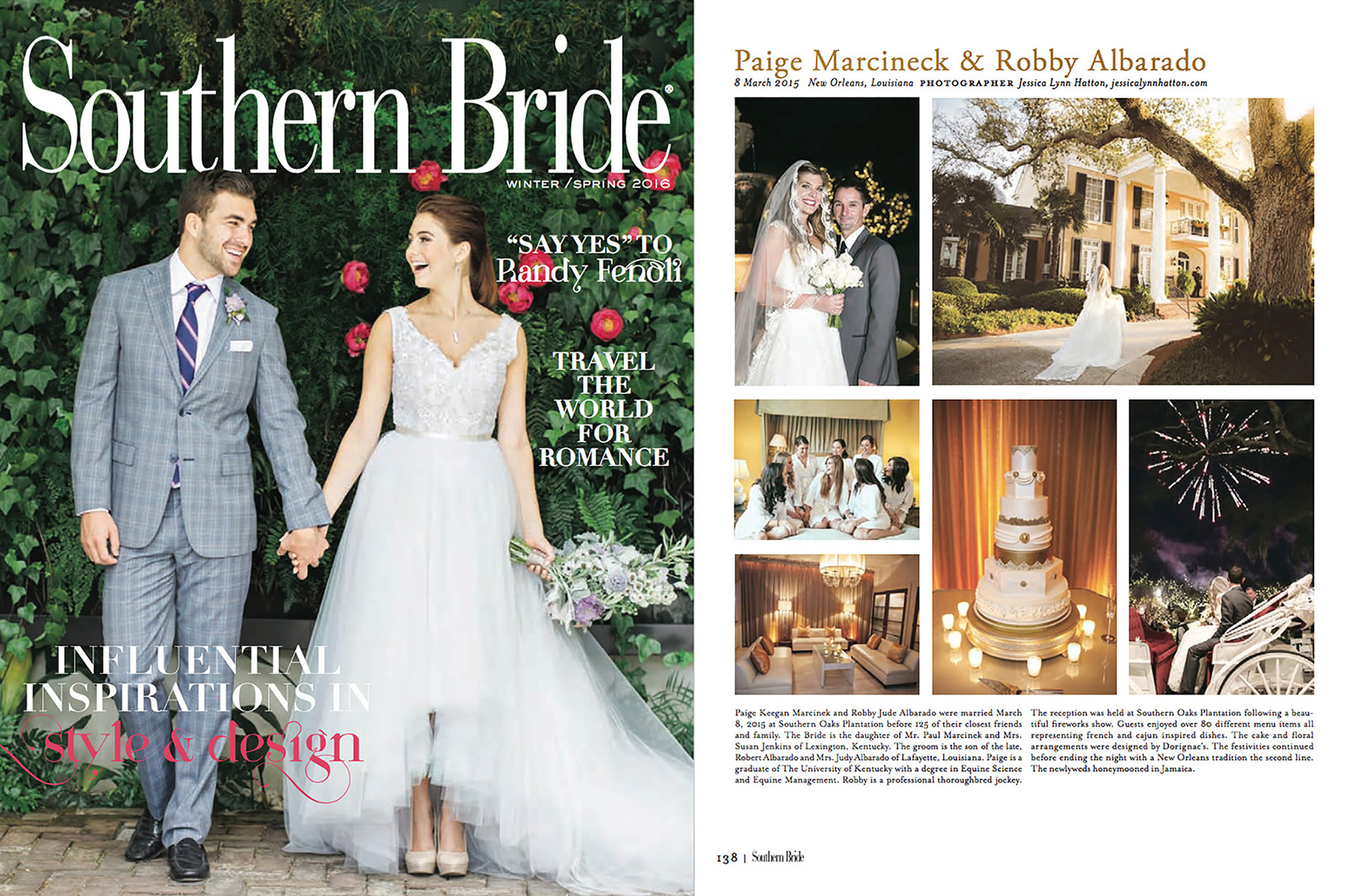 This New Orleans Wedding was featured in Southern Bride Magazine. This was shot at Southern Oaks Plantation and was a beautiful venue.